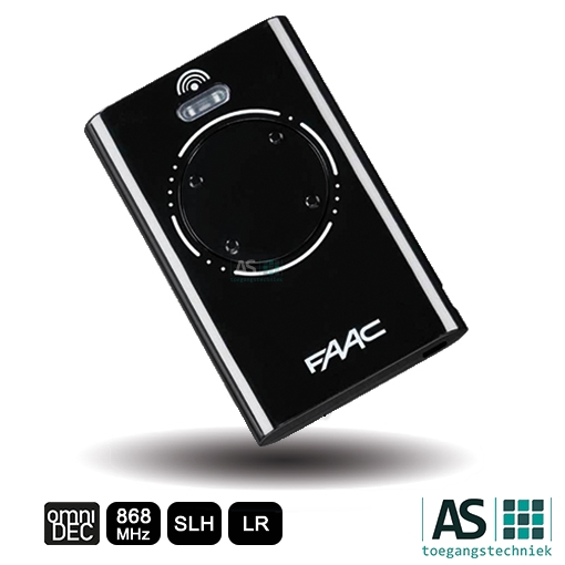 faac xt4 868 slh lr zwart handzender as toegangstechniek. Black Bedroom Furniture Sets. Home Design Ideas